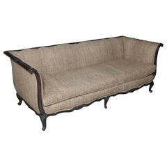 Chic Large Luxurious French Carved Walnut Sofa with Provenance