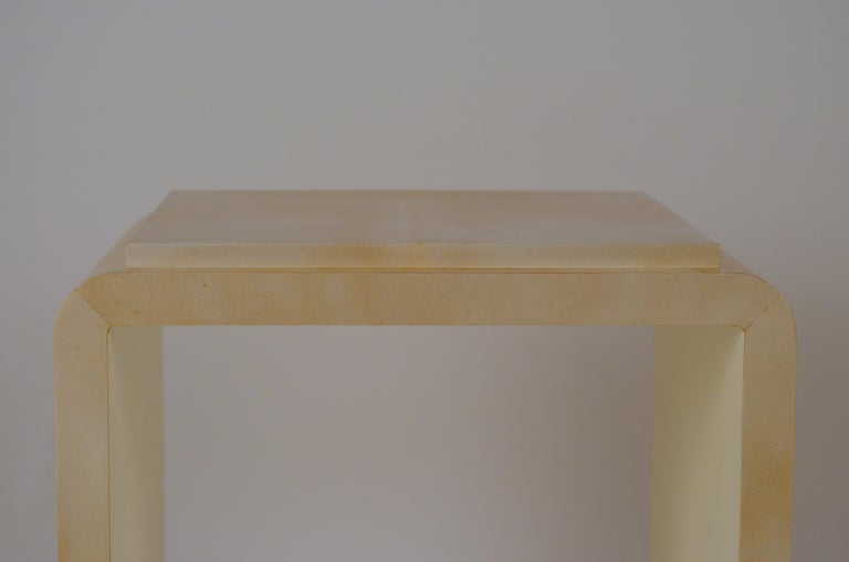 European Chic Large Parchemin Side Table For Sale