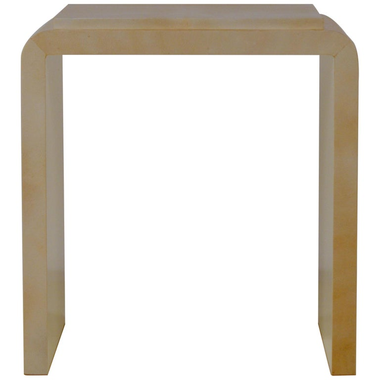 Chic Large Parchemin Side Table For Sale