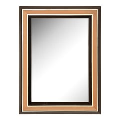 Chic Les Prismatiques Mirror with Frame in Molded Lucite 1970s 'Signed'