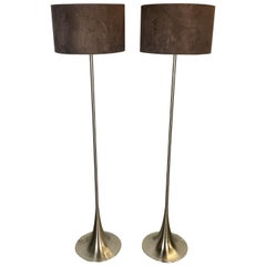 Chic Mid-Century Modern Style Floor Lamps with Tulip Base and Barrel Shades