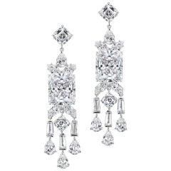 Chic Modern Art Deco Style Cubic Zirconia Fringe Earrings