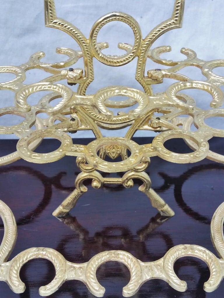 Gilt Napoleon III Bronze Liquor Cellar Tray, France, 1865 For Sale