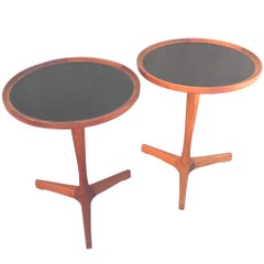 Chic Pair of 1960s Hans Andersen Teak Danish Modern Side Tables