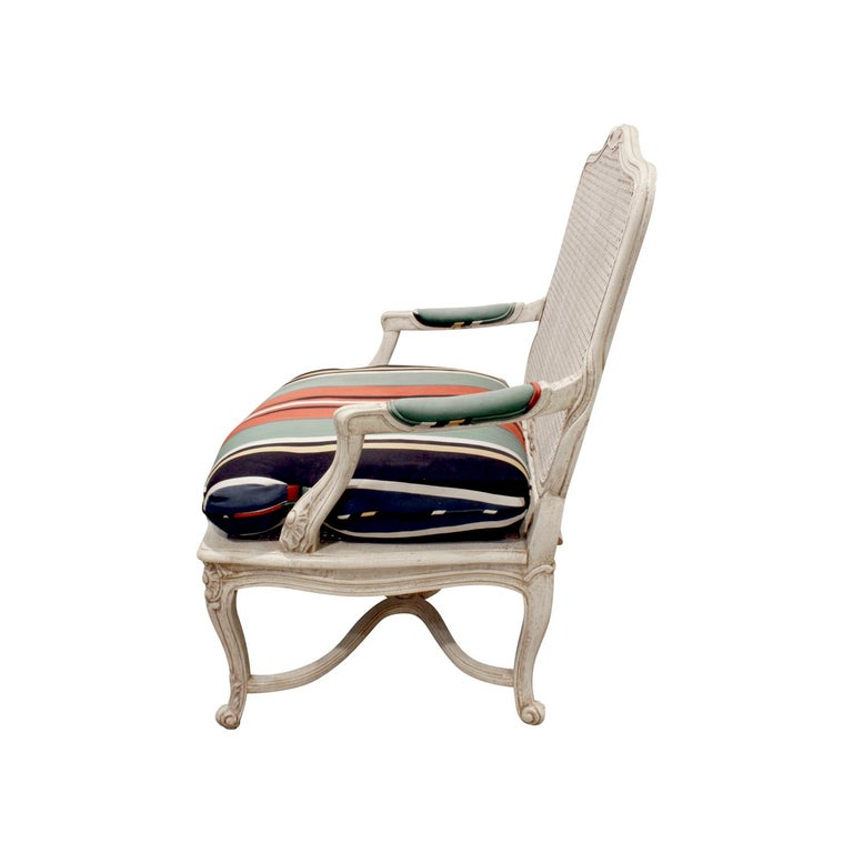 French Chic Pair of Lacquered Fauteuils, 1960s For Sale