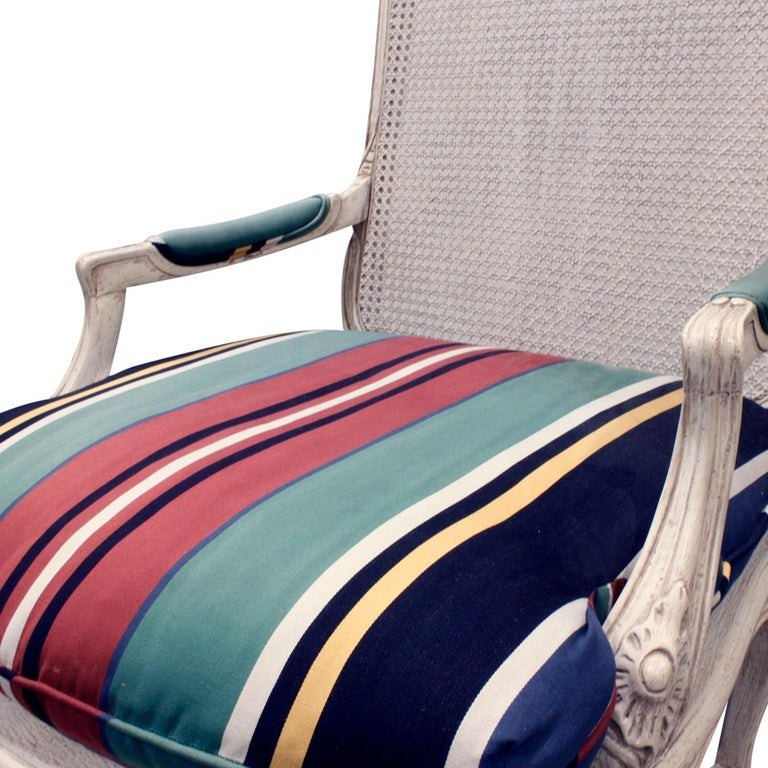 Mid-20th Century Chic Pair of Lacquered Fauteuils, 1960s For Sale