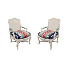 Chic Pair of Lacquered Fauteuils, 1960s
