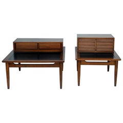 Chic pair of Mid-Century Side Tables by American of Martinsville