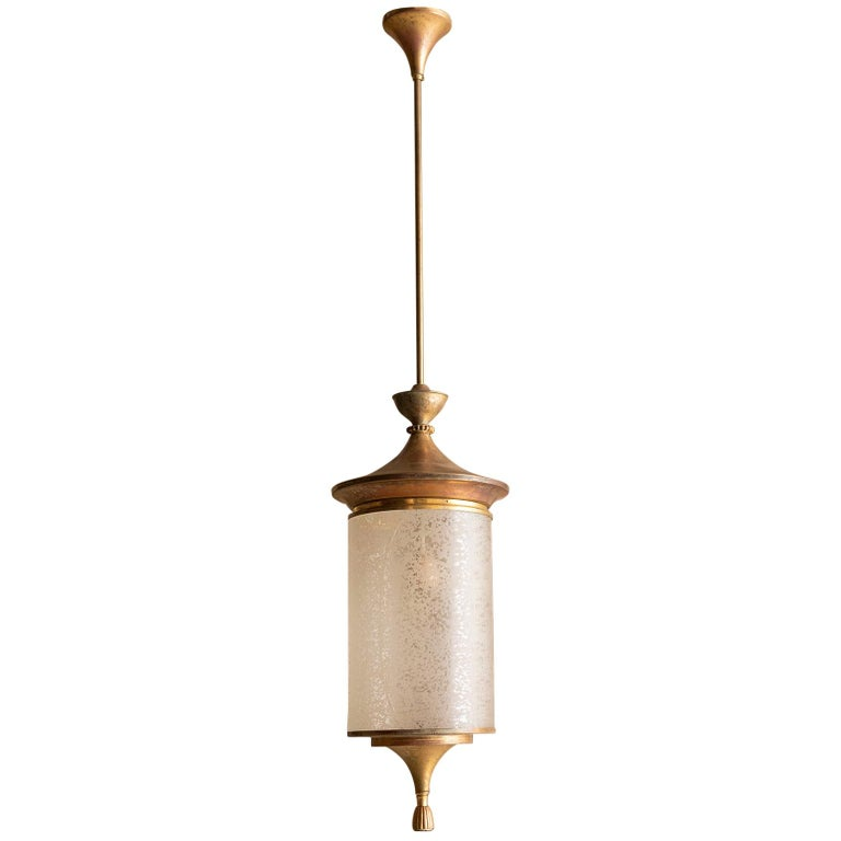 Chic Pendant Attributed to Oscar Torlasco For Sale