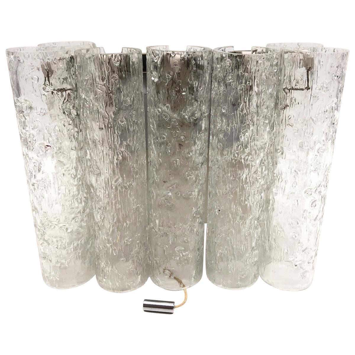 Chic Petite 1960s German Doria Leuchten Glass Tubes Sconce