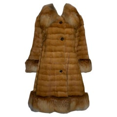 Chic Vintage Fox Fur Coat from the National Fur Company