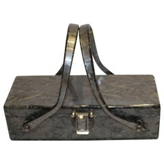Chic Vintage Lucite Box Bag