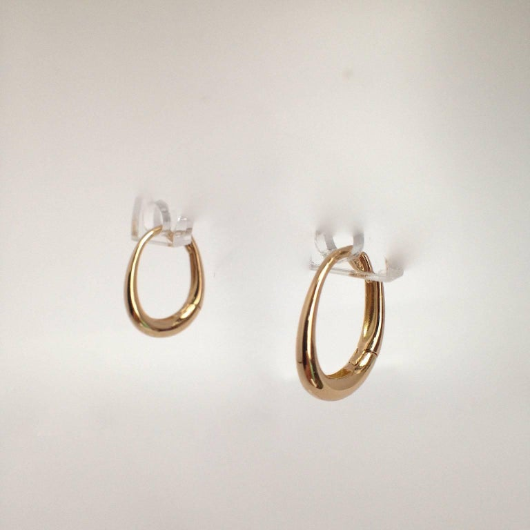 Chick White Diamond 18K Gold Pearl Drop Earrings For Sale 3