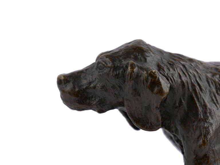 """Chien Epagneul Francais"" Bronze Sculpture by Christophe Fratin For Sale 5"