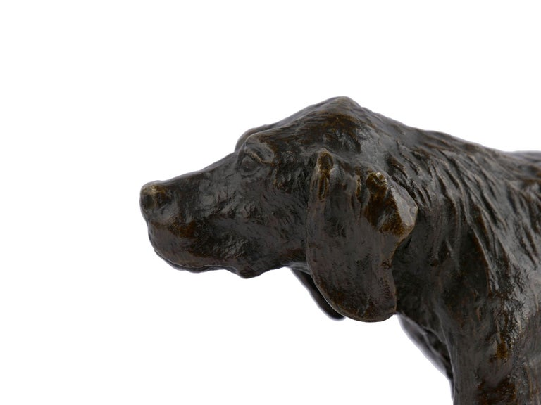 """Chien Epagneul Francais"" Bronze Sculpture by Christophe Fratin For Sale 5"