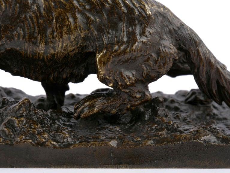 """Chien Epagneul Francais"" Bronze Sculpture by Christophe Fratin For Sale 7"