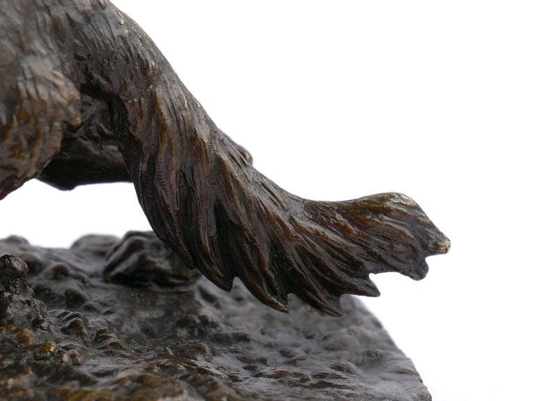 """Chien Epagneul Francais"" Bronze Sculpture by Christophe Fratin For Sale 8"
