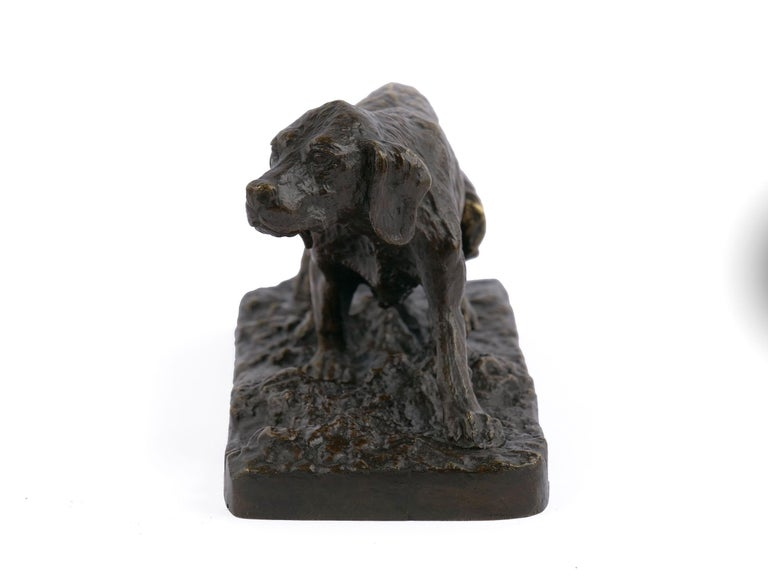 """""""Chien Epagneul Francais"""" Bronze Sculpture by Christophe Fratin In Good Condition For Sale In Shippensburg, PA"""