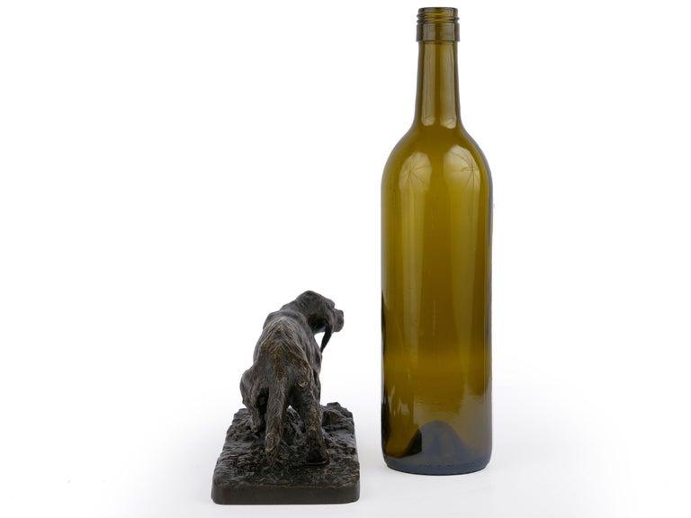 "19th Century ""Chien Epagneul Francais"" Bronze Sculpture by Christophe Fratin For Sale"
