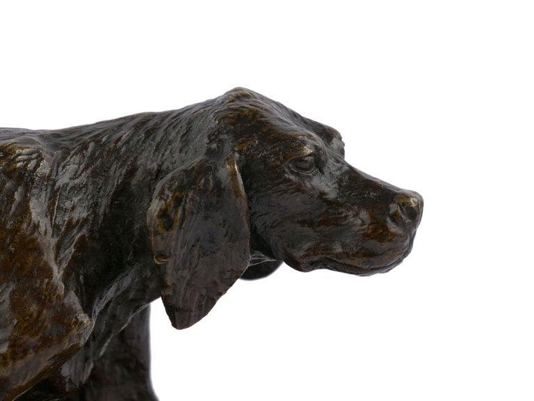 """Chien Epagneul Francais"" Bronze Sculpture by Christophe Fratin For Sale 1"