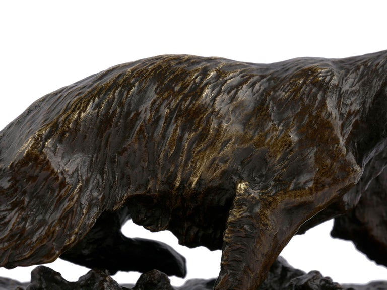 """Chien Epagneul Francais"" Bronze Sculpture by Christophe Fratin For Sale 2"