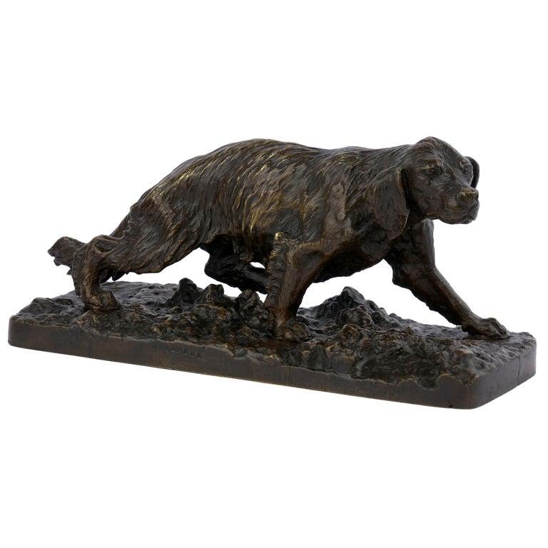 """Chien Epagneul Francais"" Bronze Sculpture by Christophe Fratin For Sale"