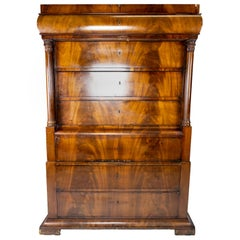 Chiffonier of Mahogany and with Carvings of the Style Late Empire from the 1840s