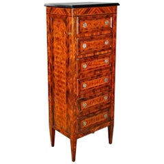 Chiffoniere Chest of Drawers with 6 Drawers in the Style of Classicism