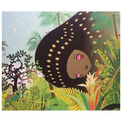 """Chiho Aoshima Signed Limited Edition Japanese Print """"Building Head Chameleon"""""""
