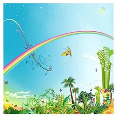 "Chiho Aoshima Signed Limited Edition Japanese Print ""Rainbow Sky"""
