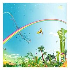 "Chiho Aoshima's ""Rainbow Sky"" Limited Edition Signed Japanese Print"