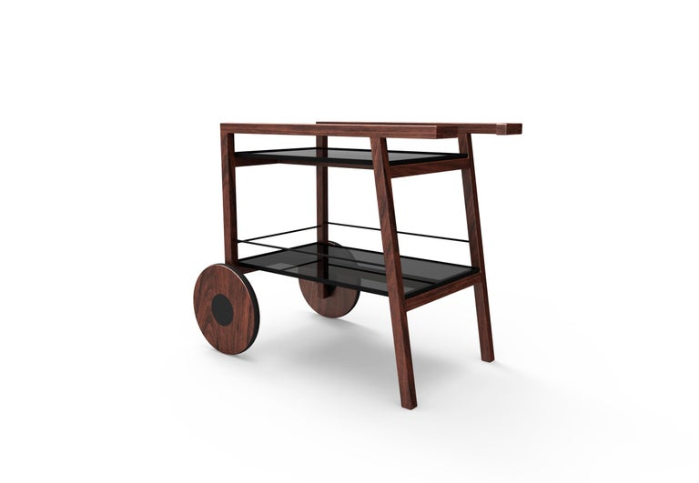 Hand-Crafted Chihuahua Tray Table or Bar Cart, Contemporary Mexican Design For Sale