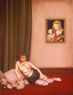 Room Alone / oil on canvas - figurative surrealism