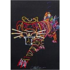 Chila Kumari Burman, Tiger, Offset Lithograph on Wove Paper, 2021
