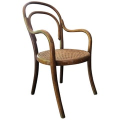 Child Armchair in Beech Signed by Thonet