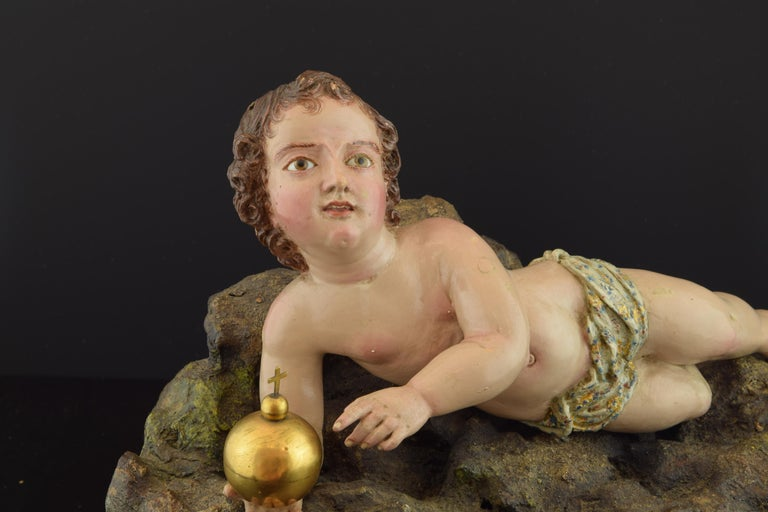 18th Century and Earlier Child Jesus, 17th Century For Sale
