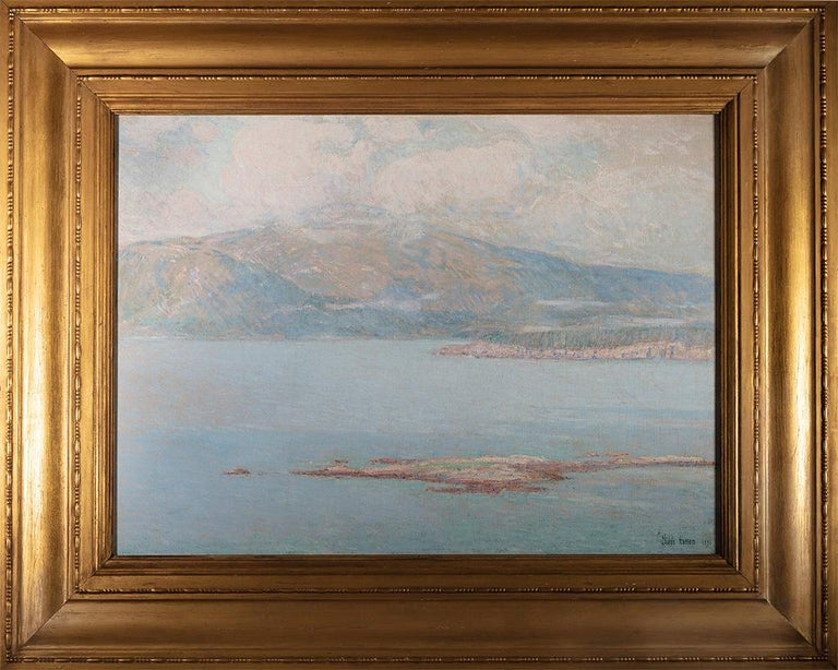 Looking over Frenchman's Bay at Green Mountain - Painting by Childe Hassam