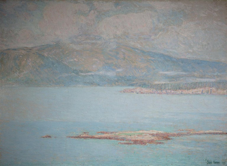 Childe Hassam Landscape Painting - Looking over Frenchman's Bay at Green Mountain