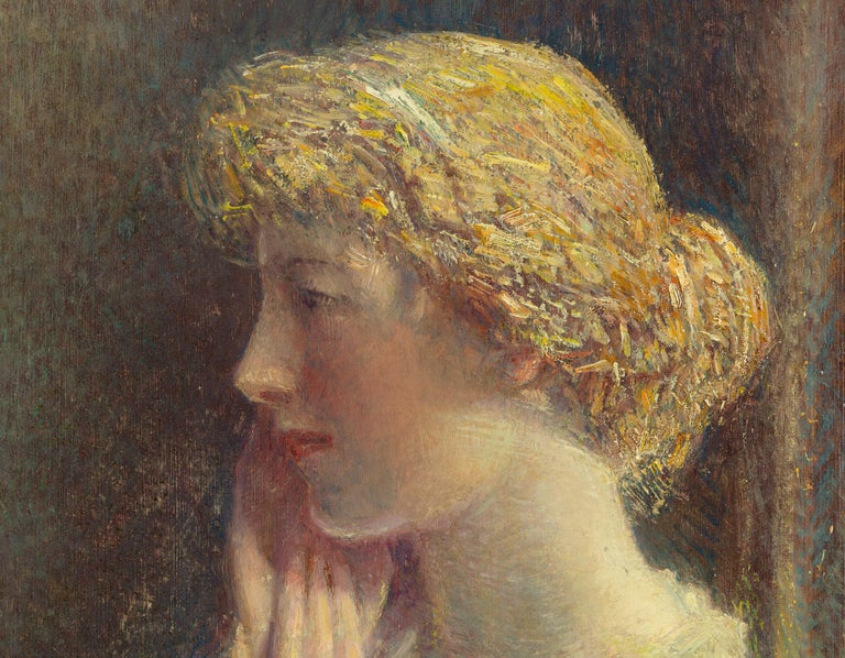 The Ash Blonde - American Impressionist Painting by Childe Hassam