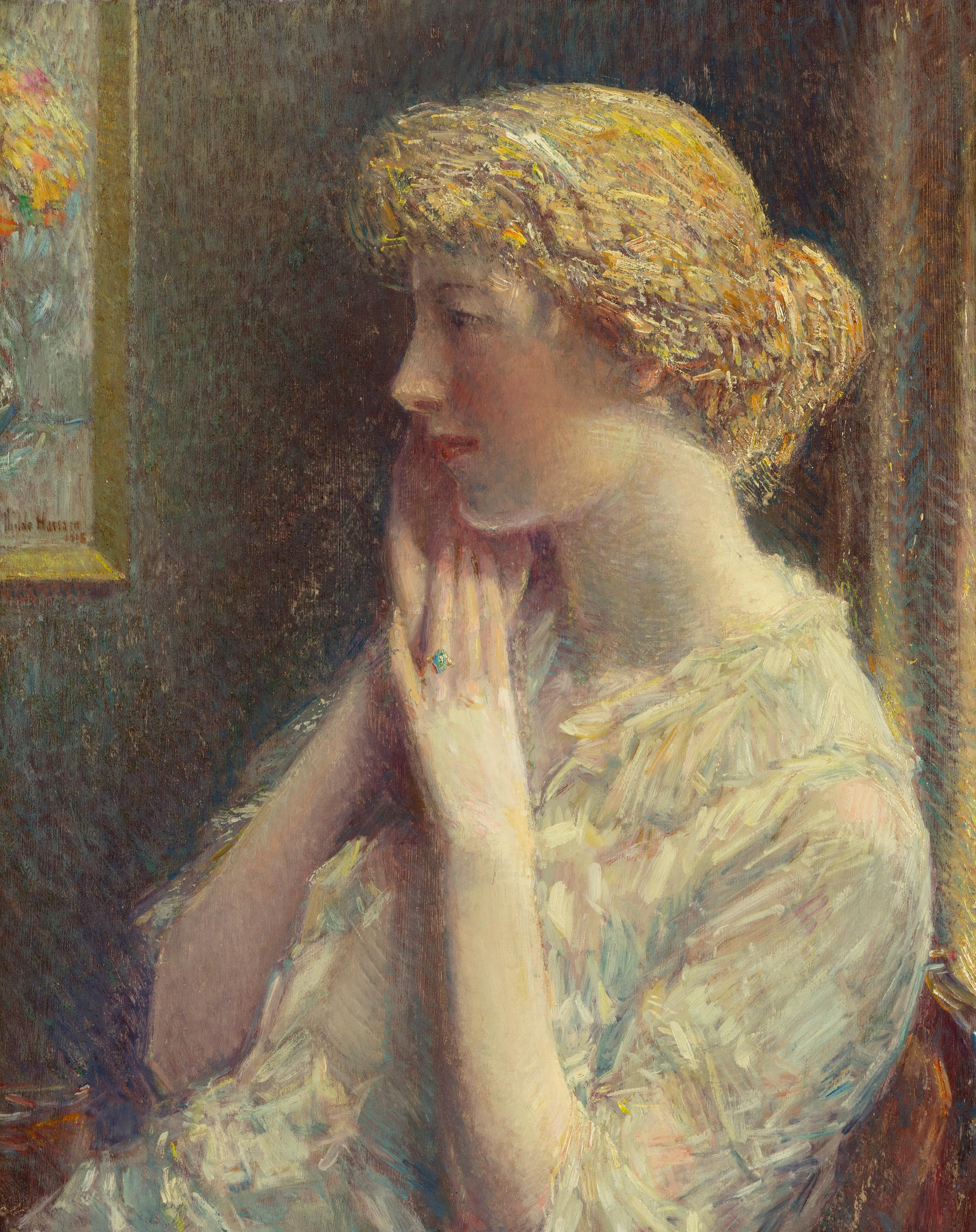 The Ash Blonde, 1918, by Childe Hassam, offered by Heather James Fine Art
