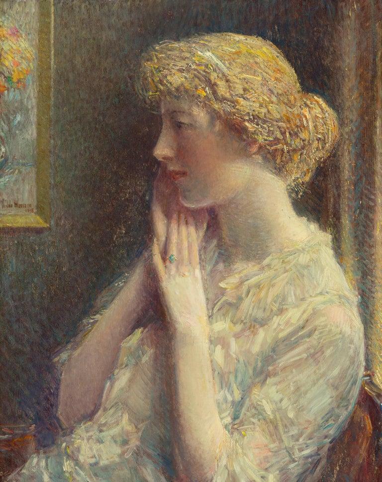 Childe Hassam Portrait Painting - The Ash Blonde