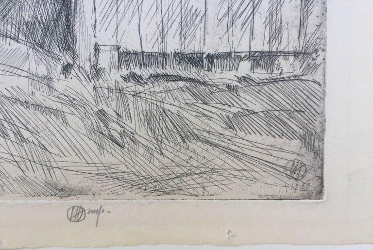 HAY BARN - Gray Print by Childe Hassam