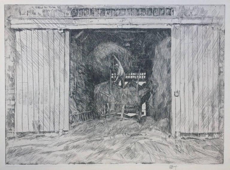 Childe Hassam Print - HAY BARN
