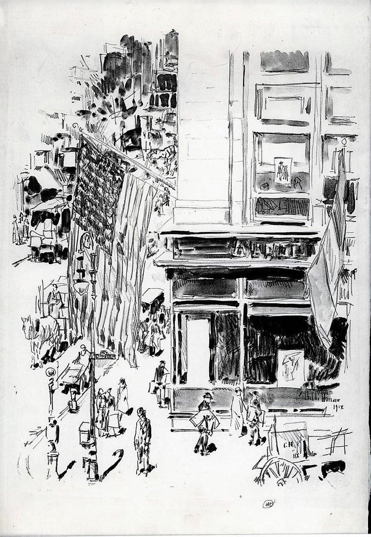 Lafayette Street.  - Print by Childe Hassam
