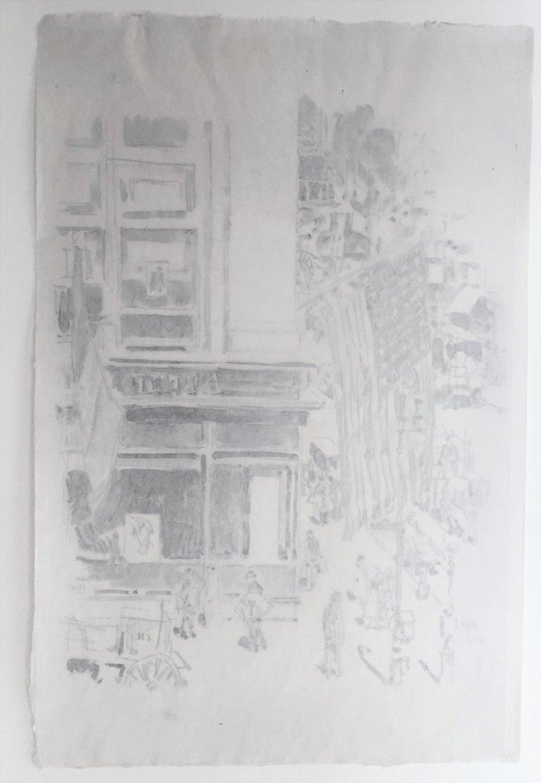 Lafayette Street.  - American Impressionist Print by Childe Hassam
