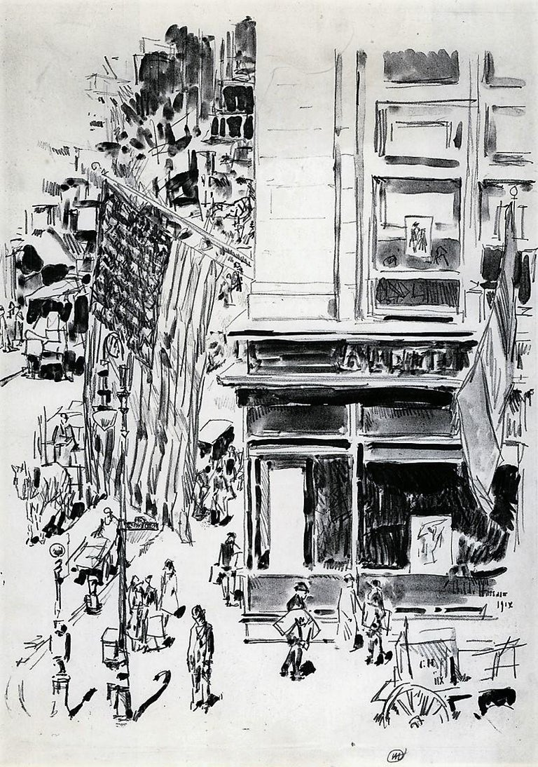 Childe Hassam Landscape Print - Lafayette Street.