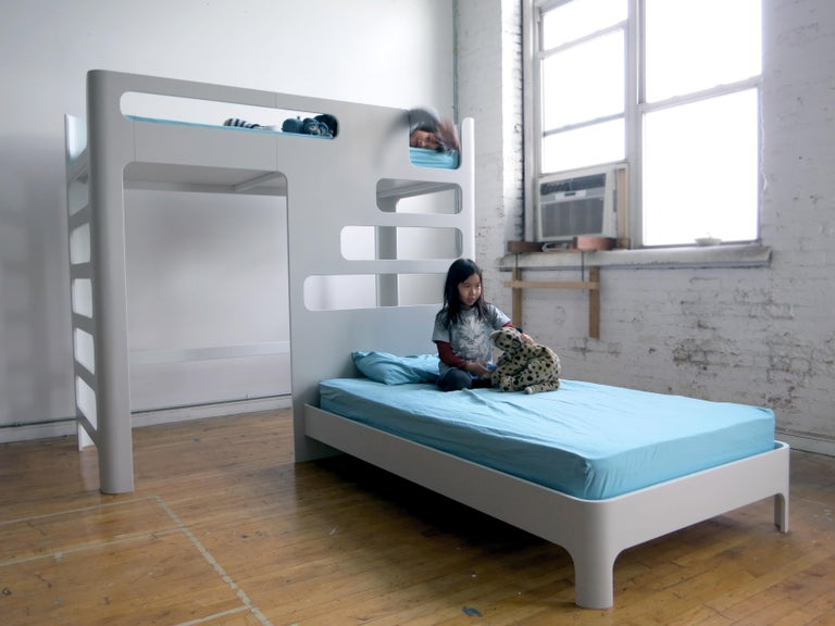 North American Children's Bunk Bed, Loft with Below Deck Play/Study Area For Sale