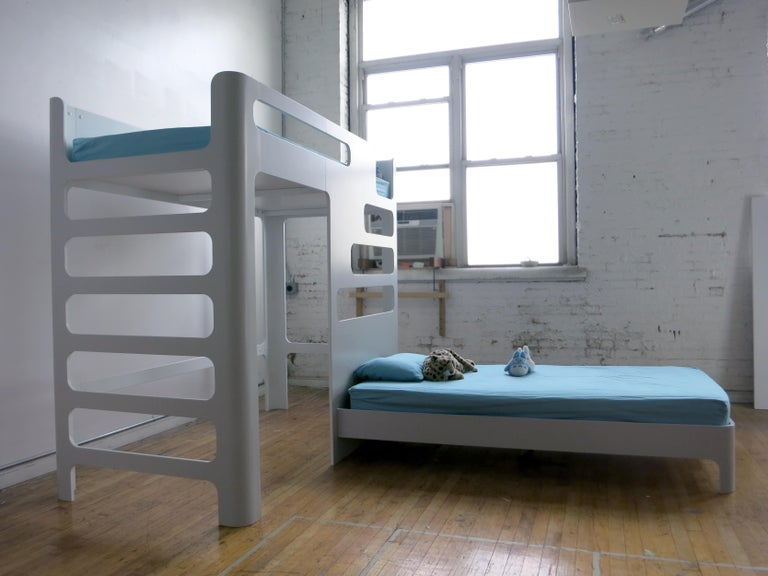 Children's Bunk Bed, Loft with Below Deck Play/Study Area In New Condition For Sale In New York, NY