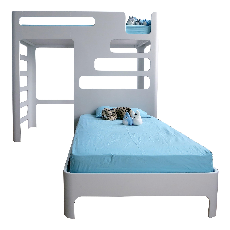Children's Bunk Bed, Loft with Below Deck Play/Study Area