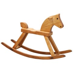 Children's Kay Bojesen Wooden Design Rocking Horse, Denmark, 1936